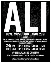 ALI -LOVE,MUSIC AND DANCE2021-